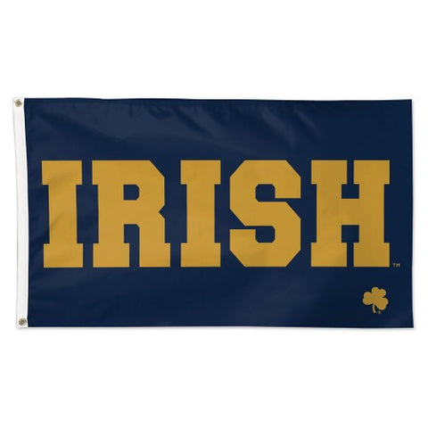 "Notre Dame University ""IRISH"" Official NCAA Deluxe 3'x5' Team Flag - Wincraft"