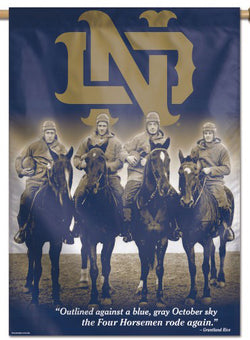 Notre Dame Fighting Irish Football The Four Horsemen Premium Wall Banner Flag - Wincraft Inc.