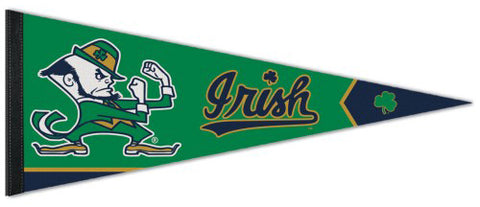 Notre Dame Fighting Irish Classic Leprechaun Style Official NCAA Team Logo Premium Felt Pennant - Wincraft Inc.