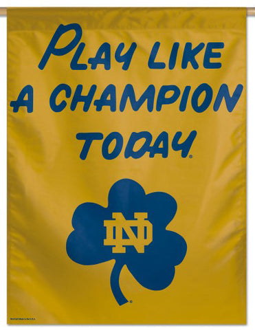 "Notre Dame Fighting Irish ""Play Like a Champion"" Premium Wall Banner Flag - Wincraft Inc."