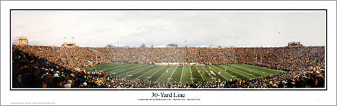 Notre Dame Football 30-Yard Line Panoramic Poster Print - Everlasting Images 1992