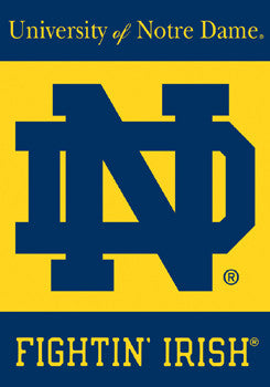 Notre Dame Fightin' Irish 28x40 Premium 2-Sided Banner - BSI Products