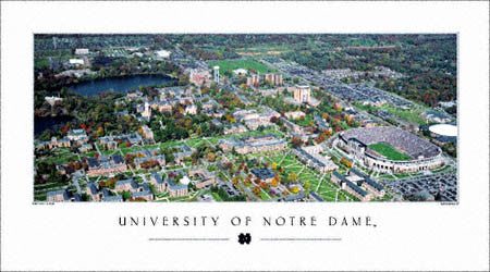 "Notre Dame University ""Bird's Eye View"" - Rick Anderson 2005"