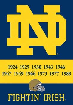 Notre Dame Football 11-Time NCAA Football Champs Commemorative Banner - BSI
