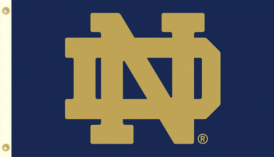 "Notre Dame Fighting Irish ""Golden ND"" Official Team HUGE 3'x5' Flag - BSI Products"