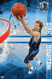 "Dirk Nowitzki ""Netcam"" Dallas Mavericks Poster - Costacos 2009"