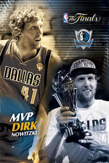 Dirk Nowitzki 2011 NBA Finals MVP Dallas Mavericks Commemorative Poster - Costacos Sports