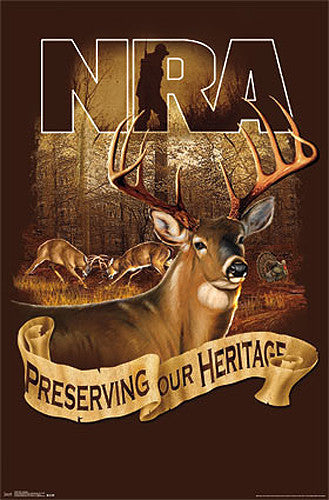 "NRA National Rifle Association ""Preserving our Heritage"" Gun Rights Poster - Trends Int'l."
