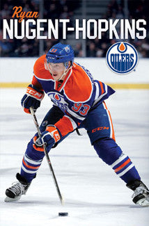 "Ryan Nugent-Hopkins ""Dynamo"" Edmonton Oiilers Poster - Costacos Sports"