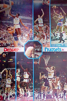 "Denver Nuggets ""77 Glory"" Denver Nuggets Vintage Original Poster - Bi-Rite 1977"