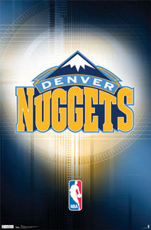 Denver Nuggets Official NBA Team Logo Poster - Costacos Sports