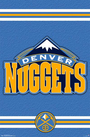 Denver Nuggets NBA Basketball Official Team Logo Poster - Costacos 2014