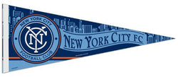 New York City FC Official MLS Soccer Team Crest Premium Felt Collector's Pennant - Wincraft