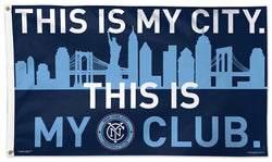 NYC FC New York City Football Club Official MLS Soccer DELUXE 3' x 5' Flag - Wincraft Inc.