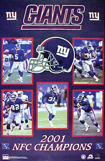 New York Giants 2001 NFC Champions Commemorative Poster - Starline Inc.