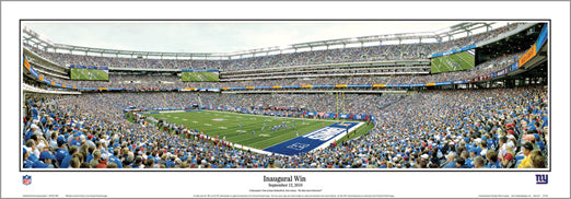"New York Giants ""13 Yard Line"" (9/12/2010) MetLife Stadium Panoramic Poster - Everlasting"
