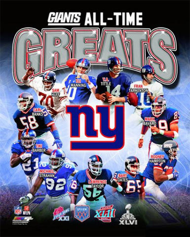 New York Giants All-Time Greats (11 Legends 4087f7b8e