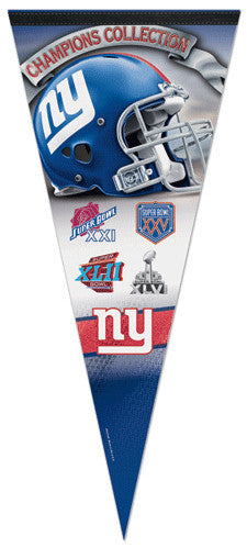 New York Giants 4-Time Super Bowl Champions EXTRA-LARGE Premium Pennant - Wincraft Inc.