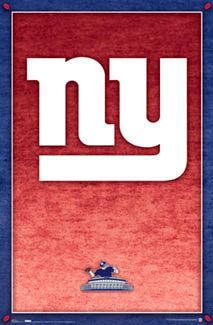 New York Giants Football Official NFL Team Logo Poster - Costacos Sports
