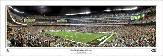 "New York Jets ""New Meadowlands Victory"" (10/11/2010) Panoramic Poster - Everlasting Images"