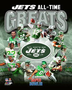 New York Jets Football All-Time Greats (11 Legends) Premium Poster Print - Photofile Inc.