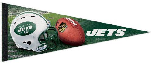 New York Jets Official NFL Helmet Logo Premium Felt Collector's Pennant - Wincraft