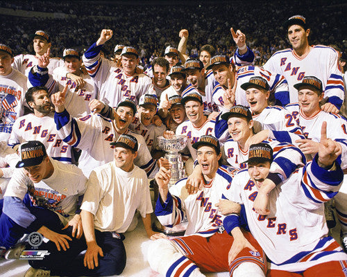 New York Rangers 1994 Stanley Cup Champions On-Ice Celebration Premium Poster Print - Photofile