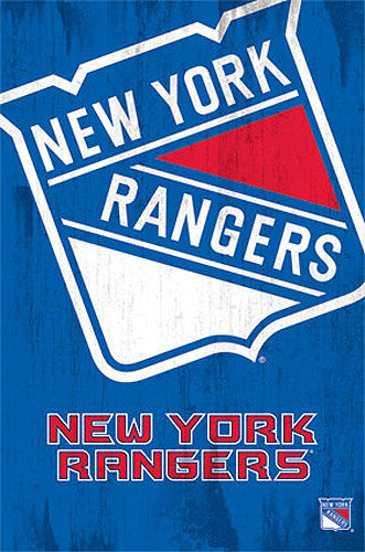 New York Rangers NHL Hockey Official Team Logo Poster - Costacos 2013