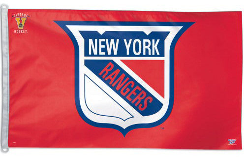 New York Rangers Vintage Collection 1947-53 Style Official NHL 3'x5' Flag - Wincraft