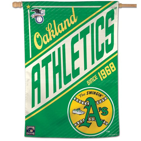 "Oakland A's ""Since 1968"" Cooperstown Collection Premium 28x40 Wall Banner - Wincraft Inc."