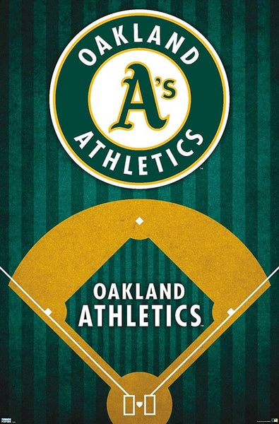 Oakland A's Athletics MLB Baseball Official Team Logo 22x34 Poster - Trends International