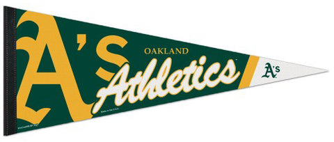 Oakland A's Official MLB Logo-Style Premium Felt Team Pennant - Wincraft Inc.