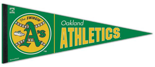 Oakland A's Retro 1970s-Style MLB Cooperstown Collection Premium Felt Pennant - Wincraft Inc.