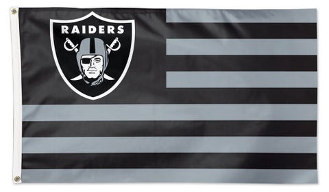 "Oakland Raiders ""Americana"" Official NFL Football HUGE 3'x5' Deluxe-Edition Team FLAG - Wincraft"