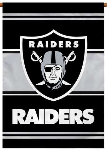 Oakland Raiders Official NFL Football Team Premium 28x40 Banner Flag - BSI Products