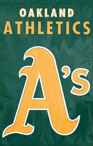 Oakland A's Official MLB Baseball Premium Applique Team Banner Flag - Party Animal