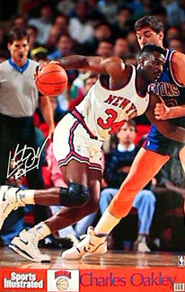 "Charles Oakley ""Drive"" New York Knicks Poster - Marketcom/S.I. 1991"