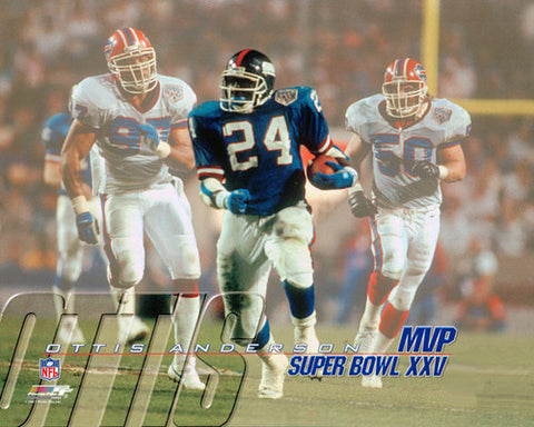Ottis Anderson Super Bowl XXV (1991) MVP Commemorative Premium Poster - Photofile Inc.