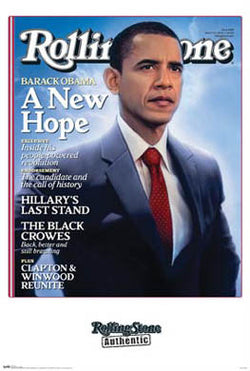 "Barack Obama ""A New Hope"" Rolling Stone Cover Poster (March 2008) - Funky Enterprises"