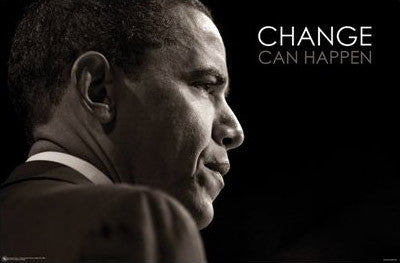 "Barack Obama ""Change Can Happen"" - Posterservice 2008"