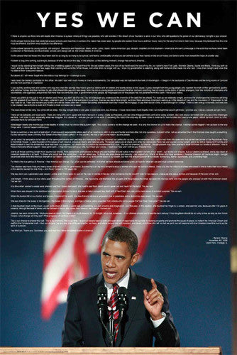 Barack Obama Grant Park Victory Speech (11/4/2008) Poster - Import Images Inc.