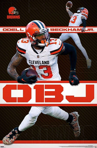 "Odell Beckham Jr. ""Game Breaker"" Cleveland Browns NFL Action Wall Poster - Trends International"
