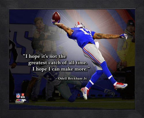 "Odell Beckham Jr. ""More to Come"" New York Giants FRAMED 16x20 PRO QUOTES PRINT - Photofile"