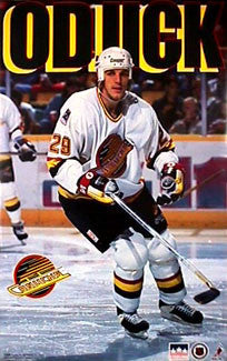 "Gino Odjick ""Canuck"" Vancouver Canucks NHL Action Poster - Starline 1994"