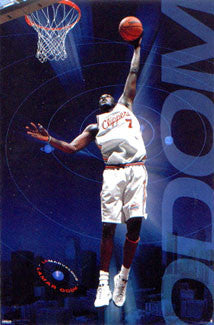 Lamar Odom L.A. Clippers Rookie Action NBA Poster - Costacos 2000