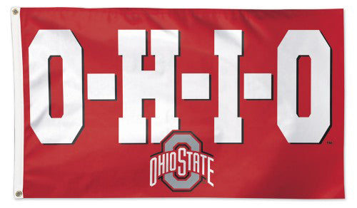 "The Ohio State Buckeyes ""O-H-I-O"" Official NCAA Deluxe 3'x5' Team Flag - Wincraft"