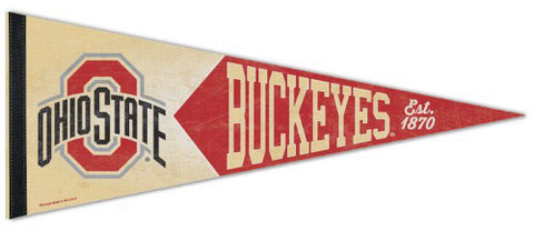 Ohio State Buckeyes NCAA College Vault Collection 1950s-Style Premium Felt Collector's Pennant - Wincraft Inc.