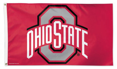 Ohio State Buckeyes Official NCAA Team Logo Deluxe-Edition 3'x5' Flag - Wincraft Inc.