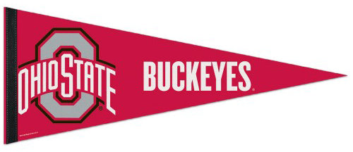 Ohio State Buckeyes Official NCAA Team Logo Premium Felt Collector's Pennant - Wincraft Inc.