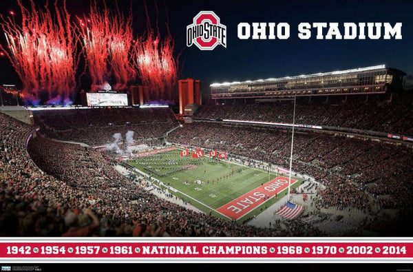 "Ohio State Buckeyes ""Game Time"" Ohio Stadium Game Night Premium Wall Poster - Trends International"